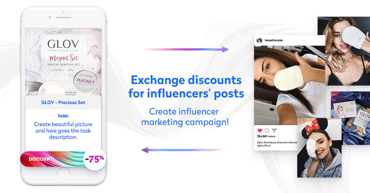 indaHash Deal - exchange discounts for influencers' posts